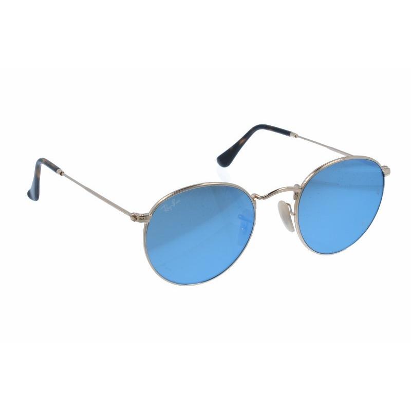 ray ban round metal blau