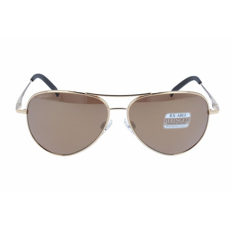SERENGETI 8546 CARRARA SHINY BOLD GOLD POLARIZED