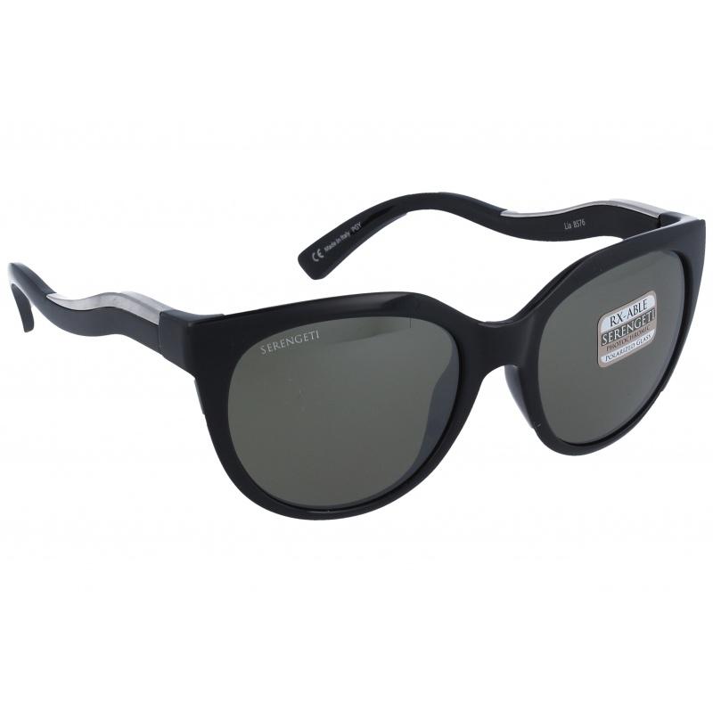 Serengeti 8576 Lia Shiny Black / Shiny Silver Polarized 555nm