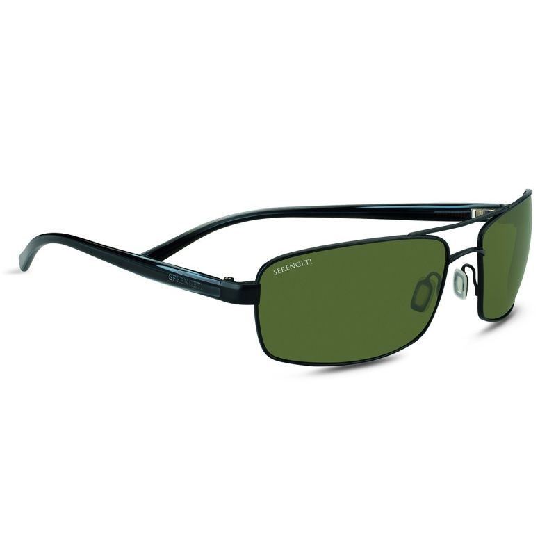 Serengeti San Remo 7604 Satin Black/Gray Stripe Polarized 555nm