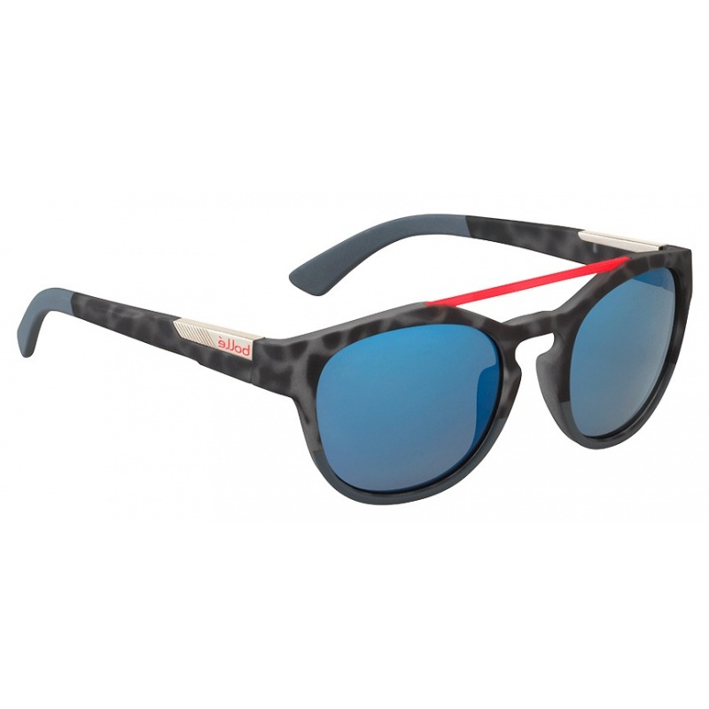 Bollé Boxton 12355 Rubber Black Tortoise Red PC Gb10 54 20