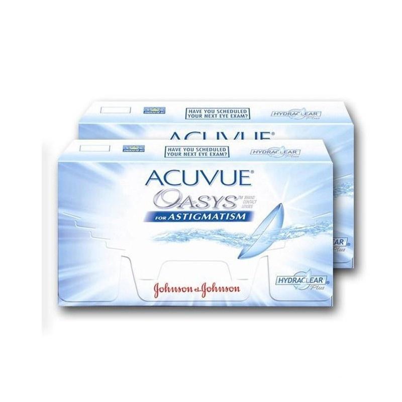 Acuvue Oasys Toric 6 Mois - Acheter Lentilles | Opticalh.Com