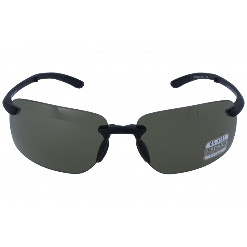 Serengeti 8787 Vernazza Matte Black Polarized Phd Drivers