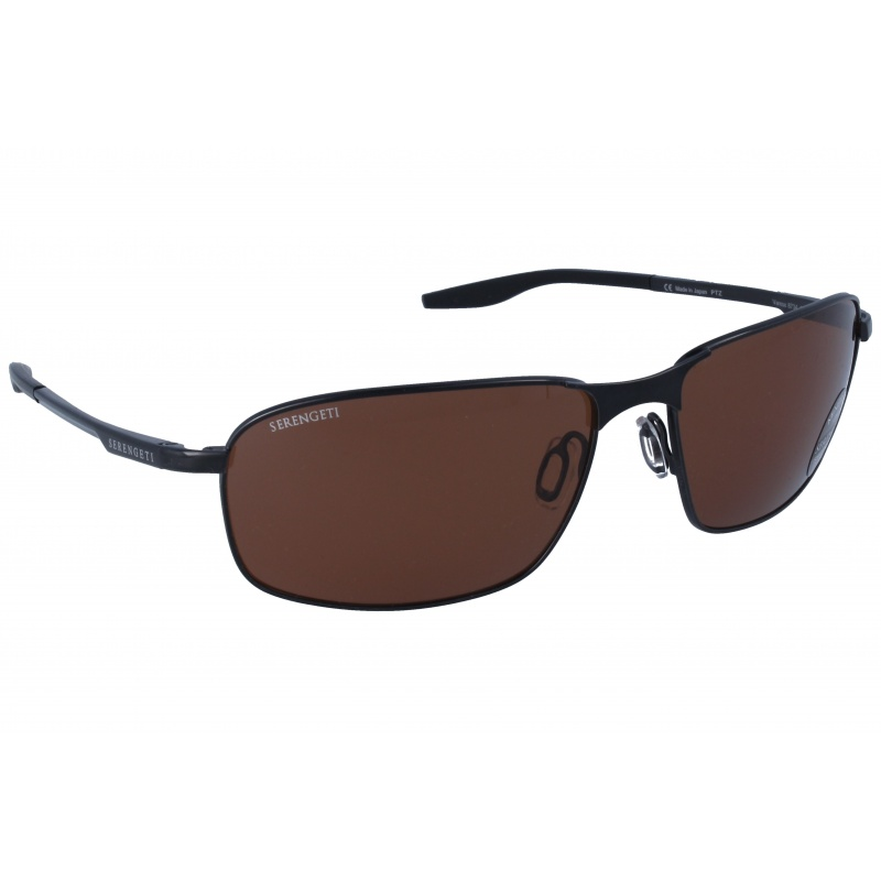 Serengeti Varese 8734 Shiny Dark Gunmetal Polarized Drivers
