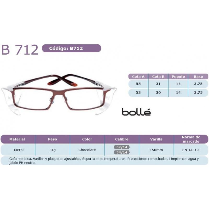 Bollé B 712 Chocolate 54 14