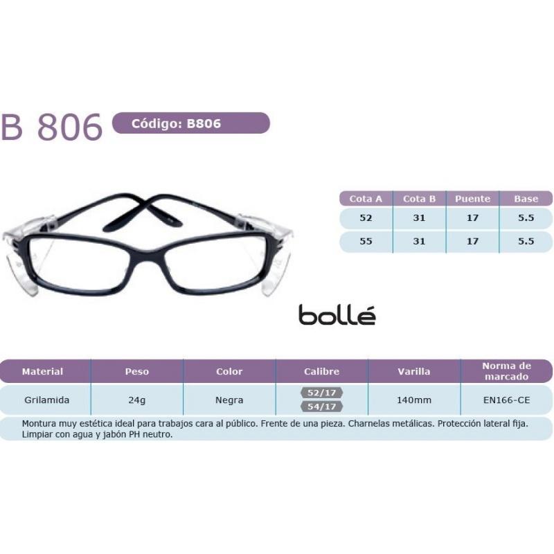 Bollé B 806 Negra 54 17