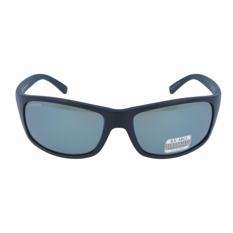 SERENGETI BORMIO 8165 SATIN BLACK POLARIZED 555NM BLUE MIRROR
