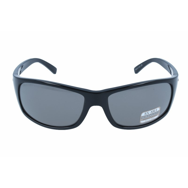 SERENGETI BORMIO 8168 SHINY BLACK POLARIZED