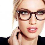 Oliver Peoples frames and makeup