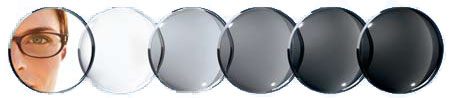 photocromic lenses transition darkness levels