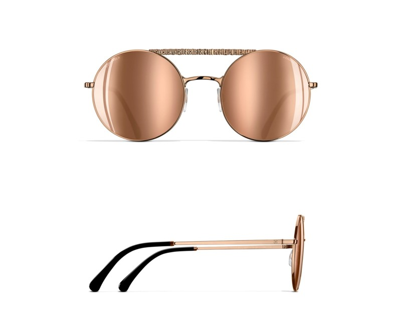 Schön Chanel Sonnenbrille Goldrahmen Zeitgenössisch - Rahmen Ideen ...