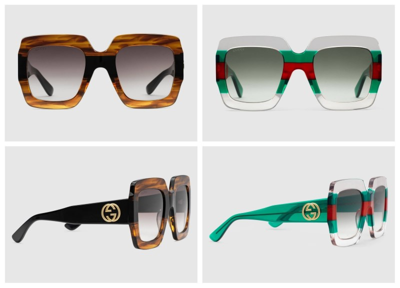 f386a00a42 Gucci 0178 has a big acetate frame with square shape. Its degraded lenses  make them a modern aspect. They are super trendy glasses that combine very  well ...