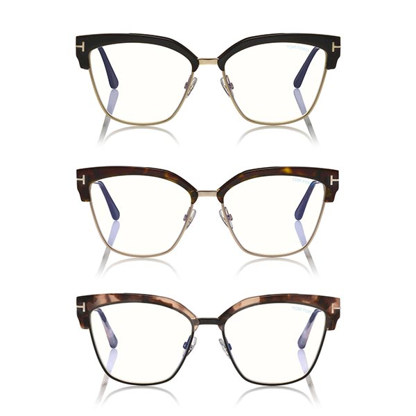 tom ford Blue Block Metal Cat-Eye Optical 5547