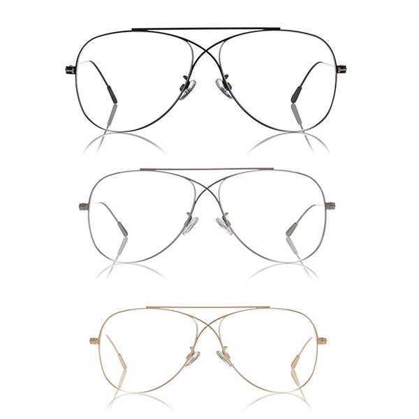 Metal Cross Aviator glasses 5531