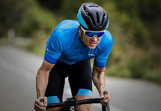 aa1868cd45 One of the most important accessories for cycling are the sunglasses. They  guarantee security and protection against dust, insects, and air and sun  rays.